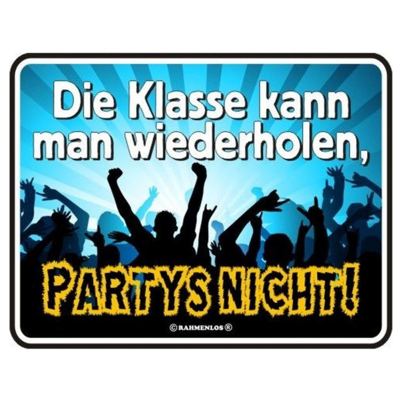 geprägtes Blechschild - Party Time