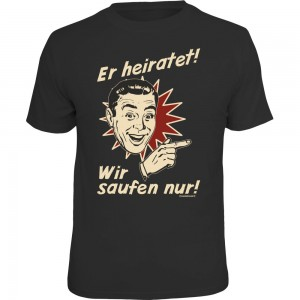 Fun T-Shirt - er heiratet retro rechts