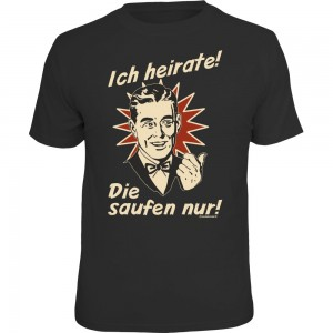 Fun T-Shirt - ich heirate retro