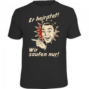 Fun T-Shirt - er heiratet retro links