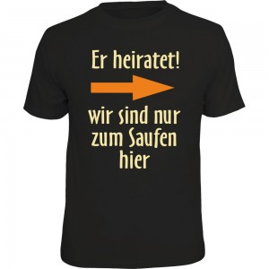 Fun T-Shirt - er heiratet! rechts