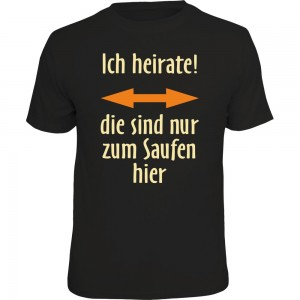 Fun T-Shirt - ich heirate!