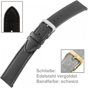 Uhrenarmband Ladies 12mm vergoldet