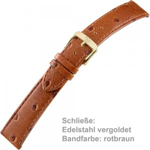 Uhrenarmband Ladies 14mm rotbraun
