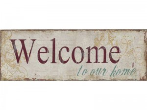 Vintage Dekoschild WELCOME