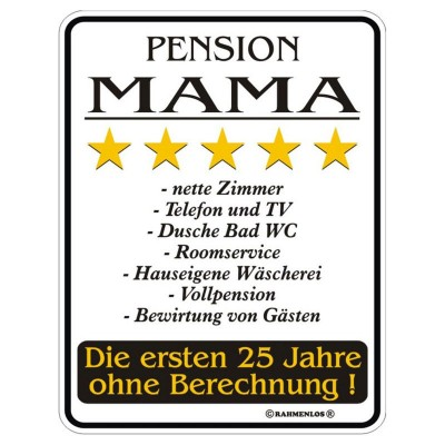 Magnetschild - Pension Mama