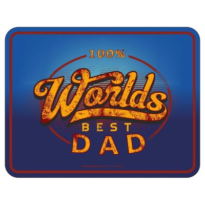 Magnetschild - 100% Worlds best Dad