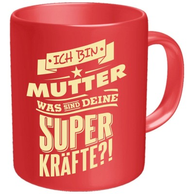 Kaffeebecher Tasse - Superkräfte Mutter