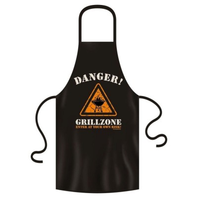 Schürze Garten & Grill - Danger! Grillzone - Enter at your one risk