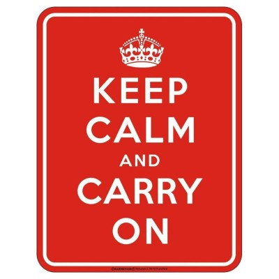 geprägtes Blechschild - Keep calm and Carry on