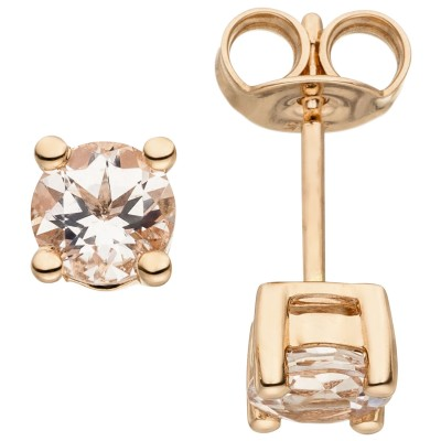 Ohrstecker 585 Rotgold 2 Morganite Ohrringe Goldohrringe