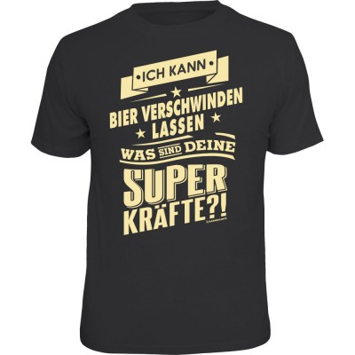 Fun T-Shirt - Superkräfte Bier