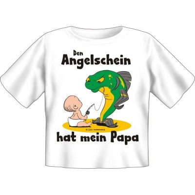 Kids Fun T-Shirt Papa hat den Angelschein